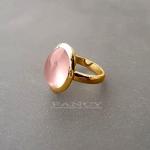 кольцо роз кварц